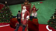 Meeting Santa (cadeSL) Tags: sl secondlife second life virtual world santa reindeer christmas north pole xmas father mother mom son boy man woman gifts presents knee sitting visit