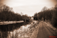 Lockhouse (red.richard) Tags: bw sepia tow path forth clyde canal lockhouse lock bridge nikon d800 redrichard
