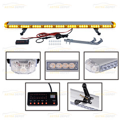 """Amber 46"""" High Intensity 78-LED Beacon Warning Strobe Emergency Light Bar Control Flashing with Digital Screen and Switch Tow Truck Plow Construction Vehicle (astradepotcorp) Tags: highintensity strobelight strobing strobe strobelightbar construction lightbar emergencystrobelight emergencylight emergencylights emergencyworkers warninglight waterproof waterresistant trucklights roofbar rooftop constructiontrucks constructionvehicles coblight ledlight"""