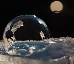 Moon River (arlene sopranzetti) Tags: frozen soap bubble macro winter ice frost
