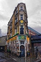 The Black Friar (Croydon Clicker) Tags: pub bar restaurant london building historic figurehead road street rain wet
