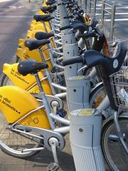 Villo bicycles (seikinsou) Tags: brussels belgium bruxelles belgique summer midsummer villo bicycle public stand