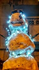 : D (morosus) Tags: tél winter hó snow hóember snowman pirate kalóz budapestbudapest budapest buda budaihegyek budahills kert kerítés fence fények fény este esti interesting érdekes vicces funny fun joke scary ijesztő handmade child gyerek