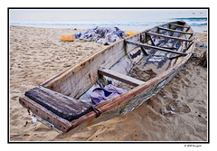 wooden boat (harrypwt) Tags: harrypwt africa afrika city border framed boat beach coastal wharf traditional wooden benin cotounou westafrica paintinglike