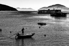 A fisherman (smp2165) Tags: fisherman absoluteblackandwhite