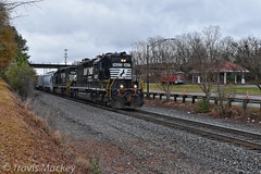 NS P36 at South Rock Hill (Travis Mackey Photography) Tags: ns p36 rockhill sc high hood sd402 train railroad locomotive trees grass sky road building