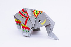 elephant (nick see) Tags: elephant oragami paperfolding animal toy art