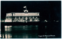 London - Imperial Chemical House at Night (pepandtim) Tags: postcard old early nostalgia nostalgic london imperial chemical house real photograph industries ici 1926 paints food ingredients polymers 2008 akzonobel henkel light wells 1981 29lch65