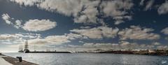 Puerto de Arrecife (paco zerpa) Tags: arrecife lanzarote islascanarias canaryisland panoramicas panos landscape puertos barcos mar nubes seacloud ship cruceros crucero