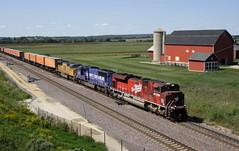 Forgot I shot this (wras23) Tags: unionpacific up sd70ace 1988 katyheritageunit mkt katy railroad train barn