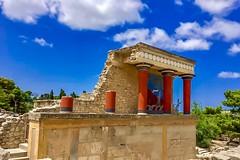 Knossos Palace, Heraklion Crete, Greece (lostambivertJDF) Tags: crete heraklion greece travel ruins ancient knossospalace palace