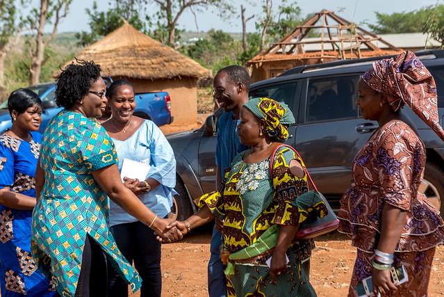 Visite des coopératives de femmes productrices de riz et de fonio dans le nord du Bénin