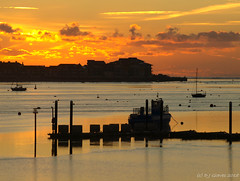 Exe Estuary dawn (ExeDave) Tags: pc043039 exe estuary starcross teignbridge exmouth marina east devon sw england gb uk coastal tidal river mouth sea landscape waterscape seascape jetty moored boats yachts dawn sunrise morning reflections sssi natura natura2000 n2k site ramsarsite december 2018