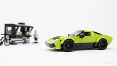 Lamborghini Miura P400 SV (PleaseYesPlease) Tags: moc lego speedchampions lamborghini miura lamborghinimiura lime green classic restomod jonelliott jon3lliottcom leeschulz