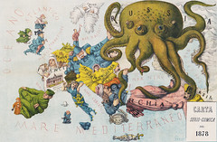 Papagallo no.15 la Piovra Russa Anno VI by Augusto Grossi (1835-1919), a cartoon depiction of Europe in 1878, using caricatures and monster kraken. Original from Library of Congress. Digitally enhanced by rawpixel. (Free Public Domain Illustrations by rawpixel) Tags: adriatico animals anno antique art arts augusto augustogrossi austria baltic black caricature cartoons characters commentary deco decor decoration drawings europe france geography germany grossi illustrated illustration kraken locimage map maps mediterranean monster ocean octopus old papagallo persia piovra political russa russia sea situation sketch sweden unknownauthor vi vintage