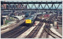 Midland memories (david.hayes77) Tags: derby derbys derbyshire semaphores peak class45 45043 thekingsownroyalborderregiment 1977 class450 londonroad mr midlandrailway sulzer