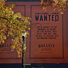 Hand painted advertising sign 11 8 2018 (rbdal (Rick Dalrymple)) Tags: handpainted advertisingsign bulleitfrontierworks frontierworks colossalmedia old town portland oldtown november fall fallcolor autumn autumncolor autumnleaves multnomahcounty oregon d7000 nikon