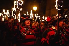 Members of Southover Bonfire society (lomokev) Tags: file:name=1811055dmrk31399 southoverbonfiresociety canoneos5d canon eos 5d sussex lewes 5thnovember fifthnovember bonfirenight guyfawkesnight fire torches torch smuggler jumper firelight people parade lewesbonfire