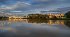 Avignon Aglow (Rob McC) Tags: avignon france pontdavignon pontstbenezet reflections sunlight aglow rhone river waterfront ancient historical landscape