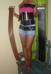 wide belt SDC11200 (ikat.bali) Tags: amateur leather leder lady woman wide belt gürtel girl fashion fetish frau fotomodell photo sexy ceinture cintura cinturón ремень 带 ベルト 벨트 เข็มขัด बेल्ट jeans shorts thắtlưng photomodel