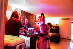 DSC09178 (Kory / Leo Nardo) Tags: pacanthro pawcon paw con pac anthro convention fur furry fursuit suiting mascot sona fursona san jose doubletree hotel california dance party deck animals costuming pupleo 2018 klingon blackhole