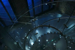 Staircase (ryorii) Tags: staircases stairs blue london londra scale scalini glass steel vetro acciaio coventgarden light lightblue luce luci blu