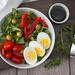 Arugula Salad with Eggs, tomato, pepper and Olive top View