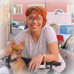 """""""One Hundred Smiles"""" (Eclectic Jack) Tags: onehundredsmiles smileonsaturday hss smile saturday smiles hundred one 100 czech republic woman dog bicycle bike redhead head red square"""