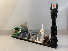 LEGO Lord Of The Rings - Skyline Architecture MOC (MOMAtteo79) Tags: lego moc skyline architecture lotr thelordoftherings thehobbit hobbiton minas tirith mordor baraddûr isengard helm argonath moria rivendell shire instructions