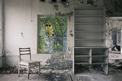 'What's a butterfly garden without butterflies?' (Taken By Me Photography) Tags: abandoned adventure art building closed creepy centre corridor chair chemical chernobyl derelict decay dark door demolished explore exploring empty eerie forgotten floor gone kindergarten kids school class classroom left nikon neglect news nuclear power plant pripyat ruin shut takenbyme takenbymephotography urbex urban ue ukraine vacant zone