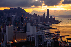 Hong Kong city skyline, Hong Kong sunset from Braemar hill a destination viewpoint to observe Victoria Harbour, Hong Kong (Patrick Foto ;)) Tags: amazing architecture asia background bay beautiful braemar building buildings center china city cityscape cityspace copyspace design district downtown dusk facade famous futuristic harbour high hill hong hongkong illuminated kong kowloon landmark landscape lifestyle metropolis modern office outdoors scenic sky skyline skyscraper skyscrapers sunset tourism town travel twilight urban victoria view braemarhill hk