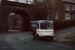 Milk Float (Smiths) (deltic17) Tags: smiths smithsmilkfloat milk milkman milkfloat electric electricvehicle bakewell derbyshire early morning delivery delivering canon canon5dmk4