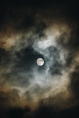 Fly me to the moon (matteoguidetti) Tags: moon fullmoon luna piena nuvole clouds colors night notte sky landscape cielo astronomy nature