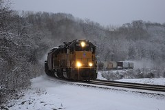 The best I could do (ujka4) Tags: unionpacific up gp60 1125 kansascity kansas ks snow