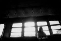 memories 581 (soyokazeojisan) Tags: japan osaka city bw light people blackandwhite monochrome analog olympus m1 om1 28mm film trix kodak memories 1970s electrictrain 国鉄 各駅停車