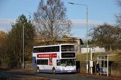 First Glasgow LK53 EYP (33372) | Route 60 | Maryhill Road, Glasgow (Strathclyder) Tags: first glasgow firstglasgow dennis transbus trident alexander alx400 lk53 eyp lk53eyp 33372 maryhill road scotland olympialivery caledonia firstlondon firstcentrewest