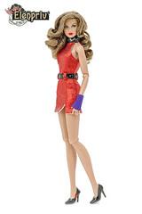 Roxy Venetian Shoe Store Dress by ELENPRIV (elenpriv) Tags: roxyvenetianshoestore dress elenpriv elena peredreeva colorinfusion fashion doll 12inch red minidress jemandtheholograms