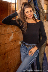 Mary Elin 01 (Claude Tomaro) Tags: mary elin moore horse stable winter snow rance claude tomaro portrait stall jeans
