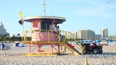 MIAMI BEACH (Lily Fr) Tags: miamibeach florida unitedstates americas beachhut theworldinpink