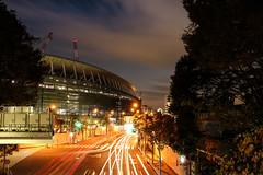 The Olympic Stadium under construction-2 (sapphire_rouge) Tags: 東京 sendagaya オリンピックスタジアム twilight 千駄ヶ谷 stadium olympic tokyo explore sunset stadiums illumination