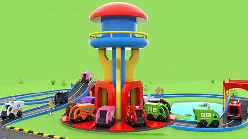 Wooden Toy Cars Parking - Videos for Children