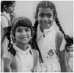 Happiness is a choice (Ramalakshmi Rajan) Tags: quotes nikon nikond5000 nikkor18140mm portrait portraits schoolkids kids children blackandwhite blackwhite bw
