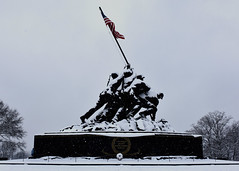 National Marine Corps Memorial (starbuck77) Tags: nikon d7200 arlington rosslyn iwojima marine corps memorial snow storm ice january 2019