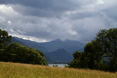 The view beyond the trees (smir_001) Tags: derwentwater lakedistrict englishlakes august summer england english british landscape water lake sky clouds hills canoneos7d cumbria fells beautiful keswick scenery dramatic lakeland lakedistrictnationalpark britishlandscapes