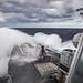 USS Jason Dunham hits heavy seas while transiting.