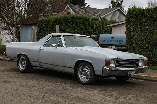 2018 car spotting gm general motors chevy chevrolet el camino truck primer gray photo photography photos pic picture pics pictures pacific northwest pnw pacnw oregon usa vehicle vehicles vehicular automobile automobiles automotive transportation outdoor outdoors