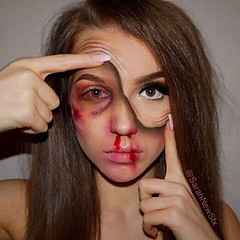 By @sarahnewsfx (ineedhalloweenideas) Tags: halloween makeup make up ideas for 2017 happy night before christmas october 31 autumn fall spooky body paint art creepy scary horror pumpkin boo artist goth gothic amazing awesome