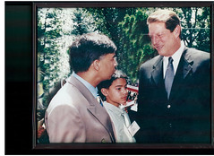 """Vice President Al Gore and Presidential candidate of Democratic party_Bobby K. Kalotee discuss upcoming elections • <a style=""""font-size:0.8em;"""" href=""""http://www.flickr.com/photos/146657603@N04/46516684431/"""" target=""""_blank"""">View on Flickr</a>"""