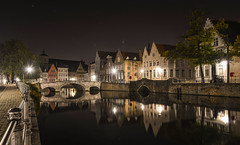 Scenic city view of Bruges canal at night (phuong.sg@gmail.com) Tags: belgian benelux bruges brugge flemish ancient architecture beautiful belgium blue bridge building canal city cityscape dusk dutch europe european evening fairytale famous gothic heritage historic house illuminated landmark medieval night old outdoors quay reflection river scenic street tourism town traditional travel twilight unique urban view water