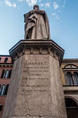 Statue of Dante, Verona, Veneto, Italy (R H Kamen) Tags: dante danteitalianpoet italy veneto veronaitaly day lowangleview malelikeness marble memorial monument outdoor outdoors rhkamen statue verona